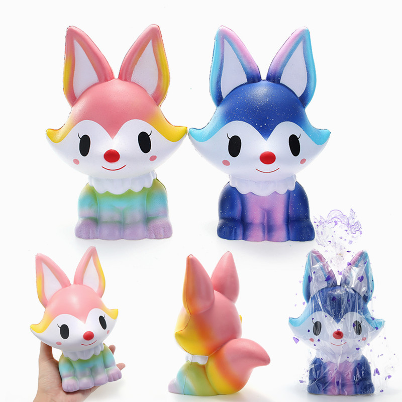 SquishyShop Fox Jumbo 21cm Squishy Slow Rising With Packaging Collection Игрушка для подарков
