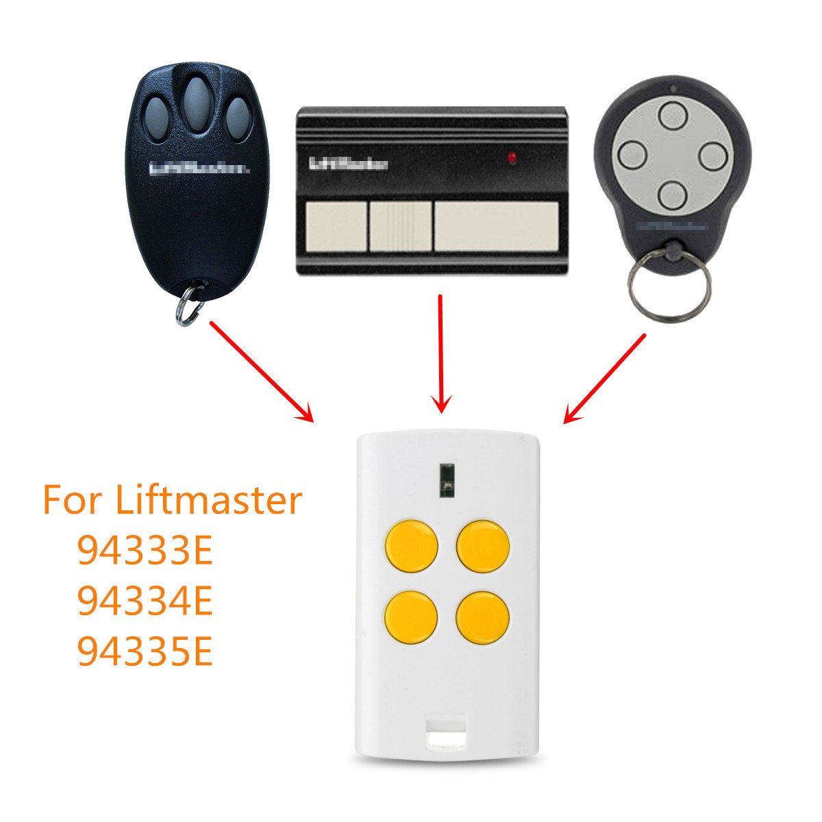 4 Button Universal Garage Gate Multi Remote Control Switch 280-868MHz Fits Fixed Rolling Code