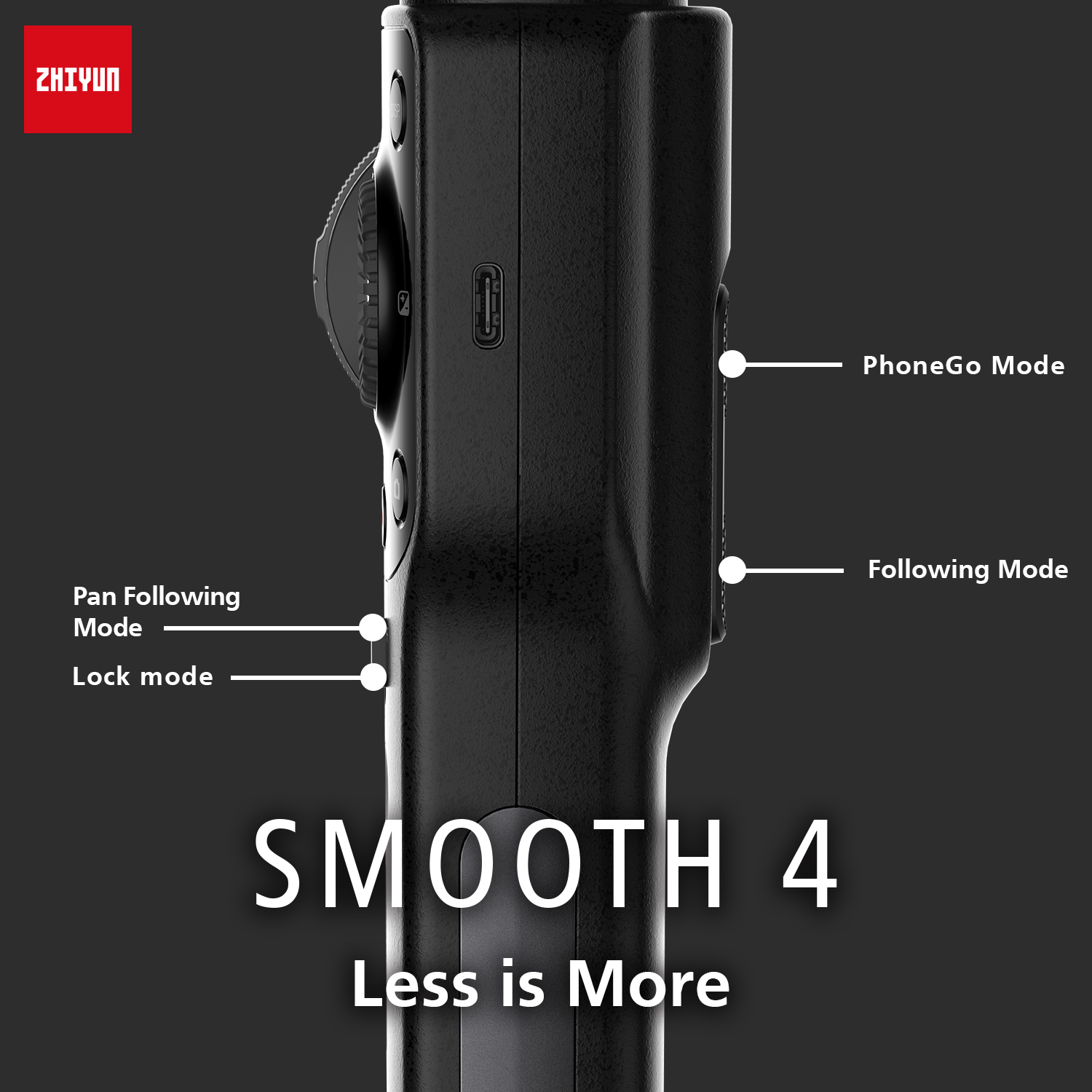 Zhiyun smooth 4 3-axis handheld smartphone gimbal stabilizer for iphone xs xr x 8plus 8 7p 7 samsung s9 s8 s7 & action camera