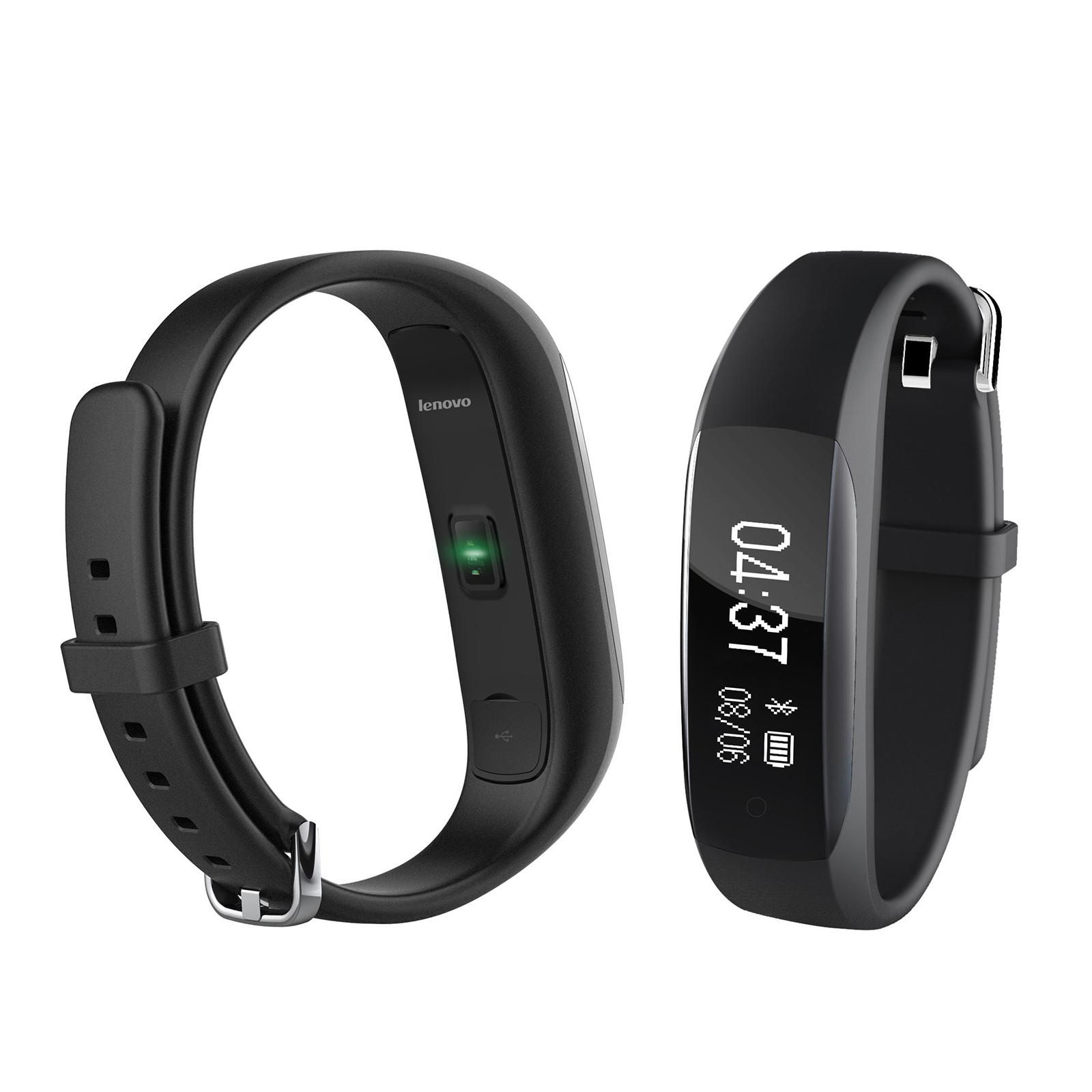 Lenovo HW01 Dynamic Heart Rate Sleep Monitor Fitness Tracker Social Share Music Control Smart Watch Band