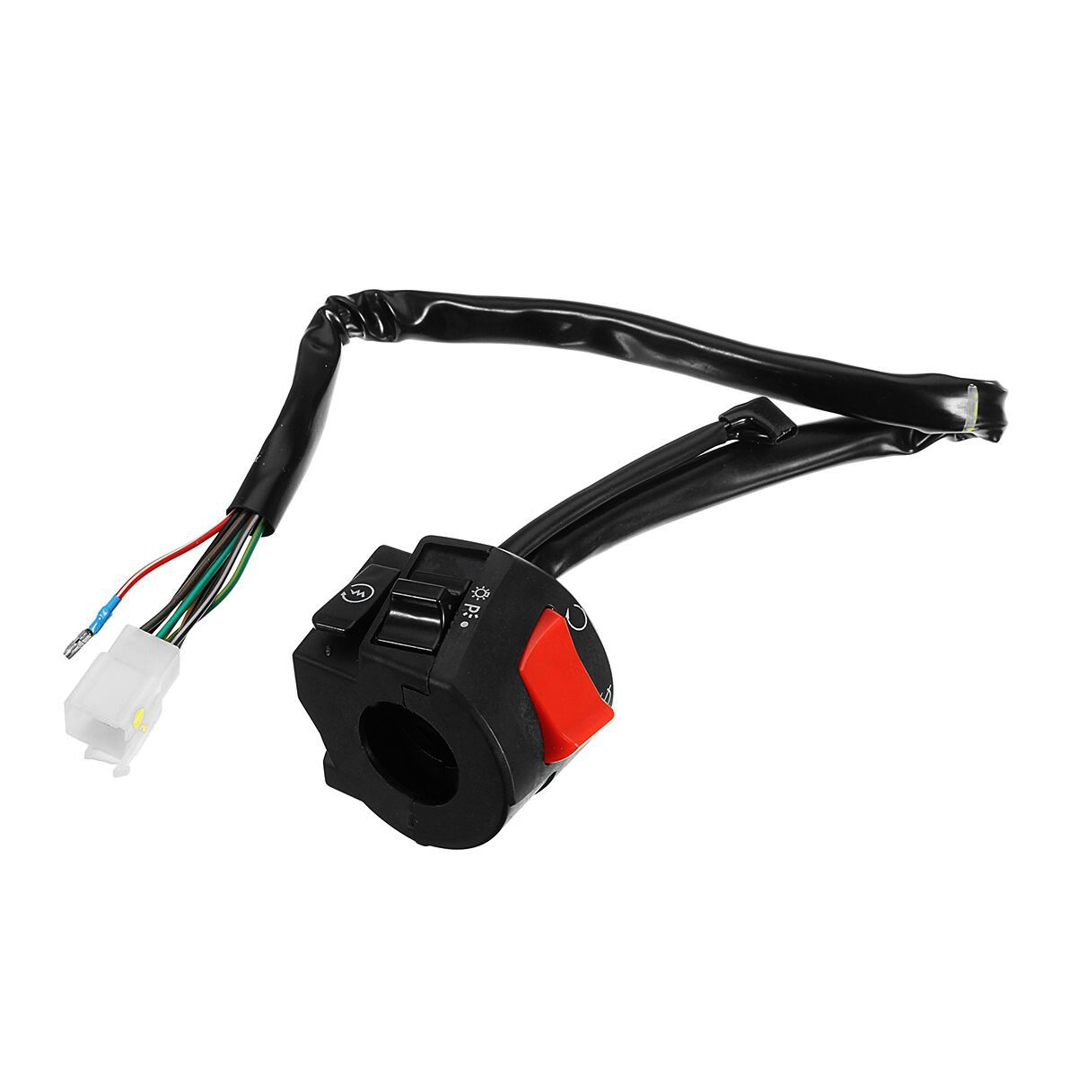 7/8inch 22mm Motorcycle Handlebar Horn Turn Light Electrical Start Switch Right Side