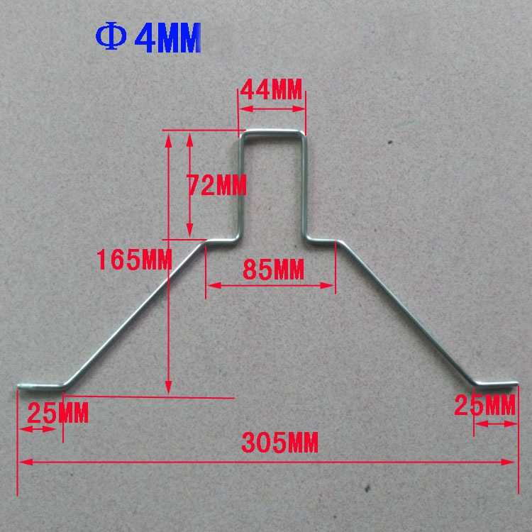 EPP 2mm 3mm 3.5mm 4mm Steel Landing Gear Spare Part For 3D KT RC Airplane
