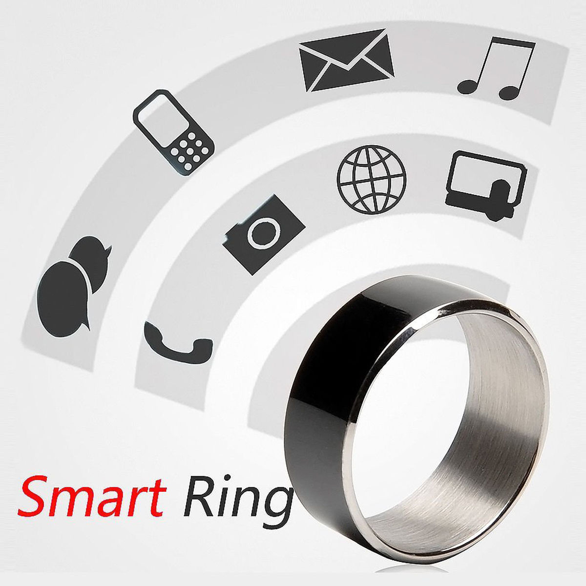 Stainless Steel NFC Smart Magic Ring Wearable For Hawei iPhone Android Windows