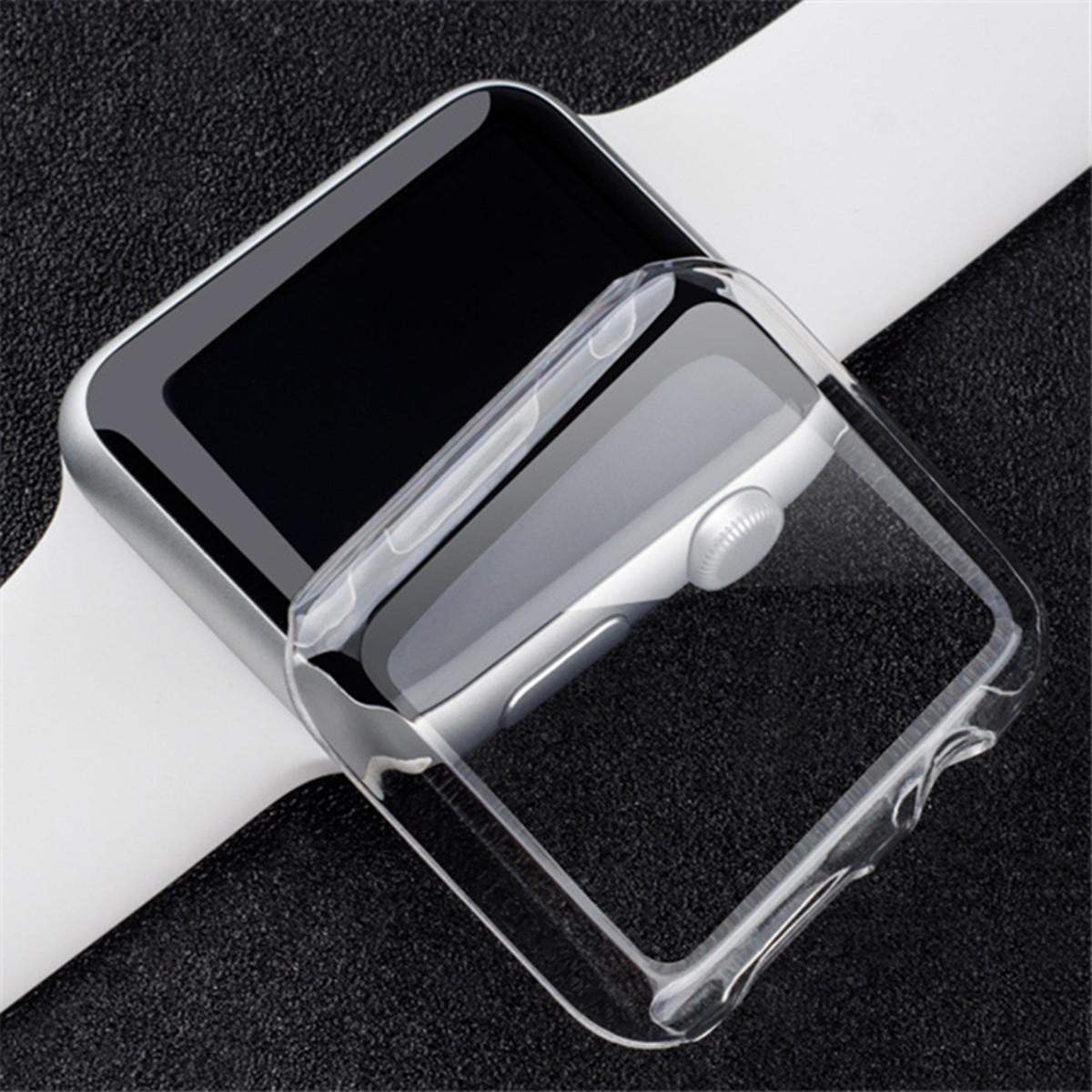 Прозрачный Clear Тонкий Жесткий Snap On крышка случая экрана протектор для 38 / 42мм Apple Наблюдать за серии 2