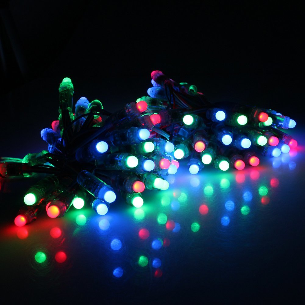 Rgb Led Christmas Lights.50pcs 15w Ws2811 Waterproof Full Color Rgb Led Digital Pixel Module Light Dc5v Dc12v