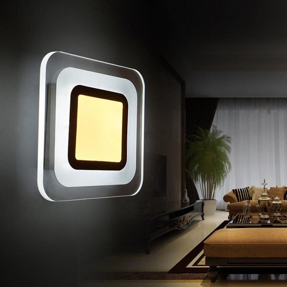 9W LED Современная Площадь Проход Лестница Гостиная Настенный Светильник Внутренний Прикроватный Лампа фото