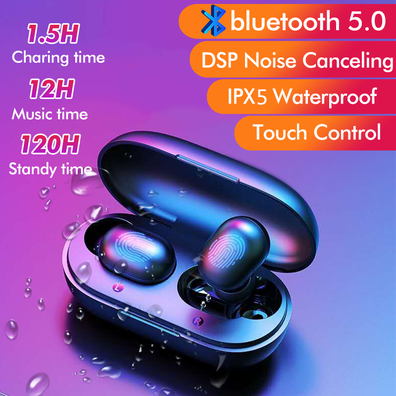 Haylou GT1 TWS Wireless bluetooth 5 0 Earphone HiFi Smart Touch Bilateral  Call DSP Noise Cancelling Headphone from xiaomi Eco-System