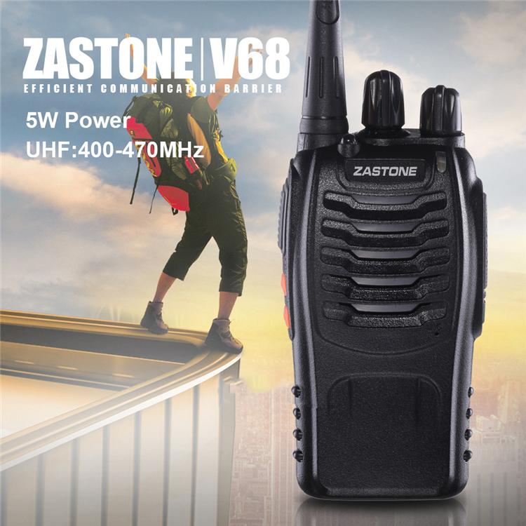 Zastone ZT-V68 UHF 400-470MHZ Профессиональный карманный 5W 16CH в двух направлениях Радио PMR CB Walkie Talkie