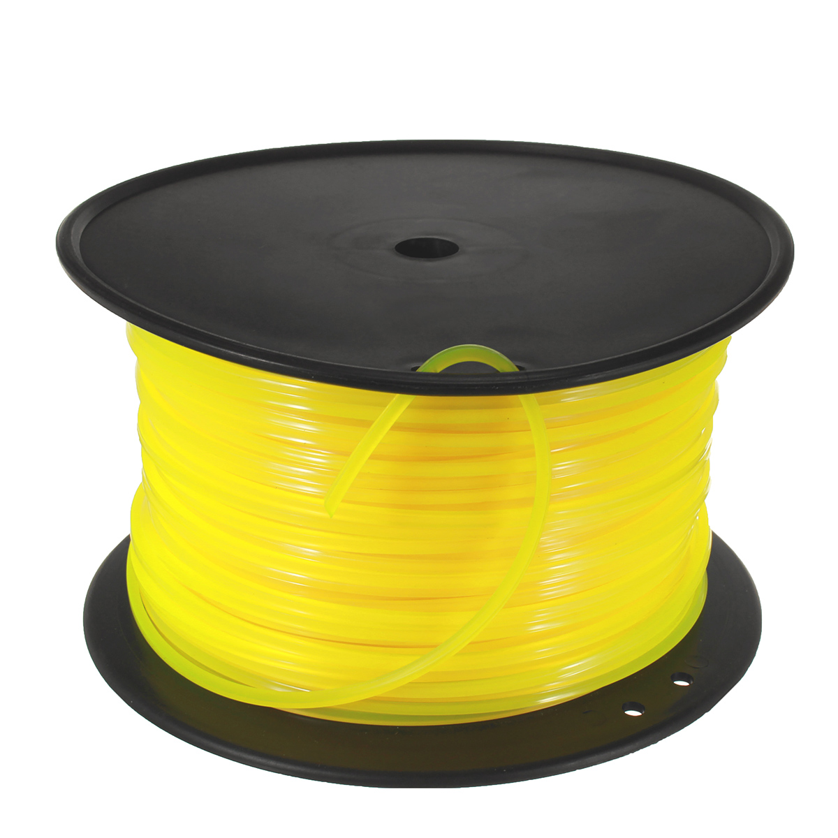 100m Yellow Square 3mm Wire Cord Plastic For STIHL Strimmer Trimmer Head Mower
