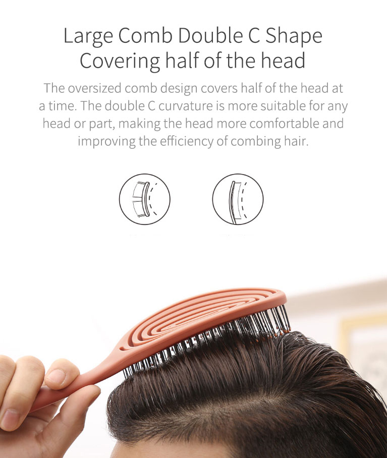 XINZHI Soothing Pressure Elastic Comb Relaxing Elastic Massage Comb Portable Hair Brush Massage Brush Anti-static Magic Brushes Head Combs From Xiaomi Youpin