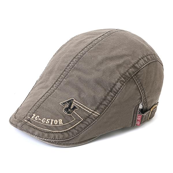 Mens Cotton Embroidery Letter Niet Berets Caps Lässige Sport Visor Golf Hut
