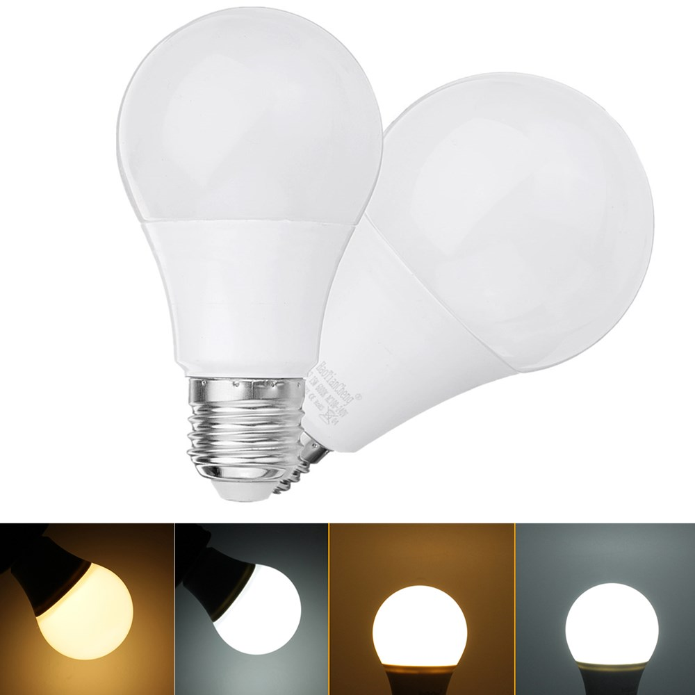 E27 5W 7W 9W 12W 15W Warm White Pure White Non-dimmable No Flicker LED Globe Light Bulb AC85-265V