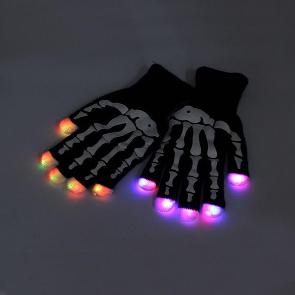 7 режим LED Finger Перчатки Освещение мигающий Rave украшения игрушки Dance Party