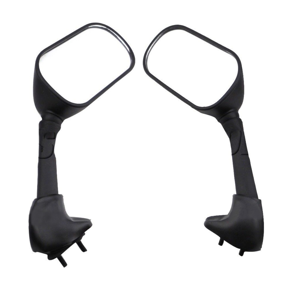 Pair Motorcycle Racing Rear View Side Mirrors For Yamaha YZF R6 R6S 2003-20