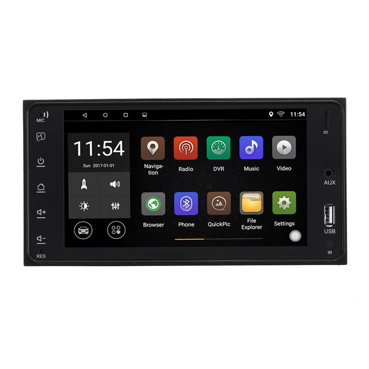 7Inch for Android 8.1 1+16G Car Stereo Radio MP5 Player Quad Core 2DIN 2.5D WIFI bluetooth GPS AM for Toyota Corolla