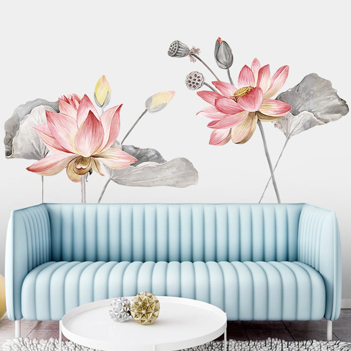 Lotus Flower Wall Poster Vinyl Wall Sticker Removable Room Home