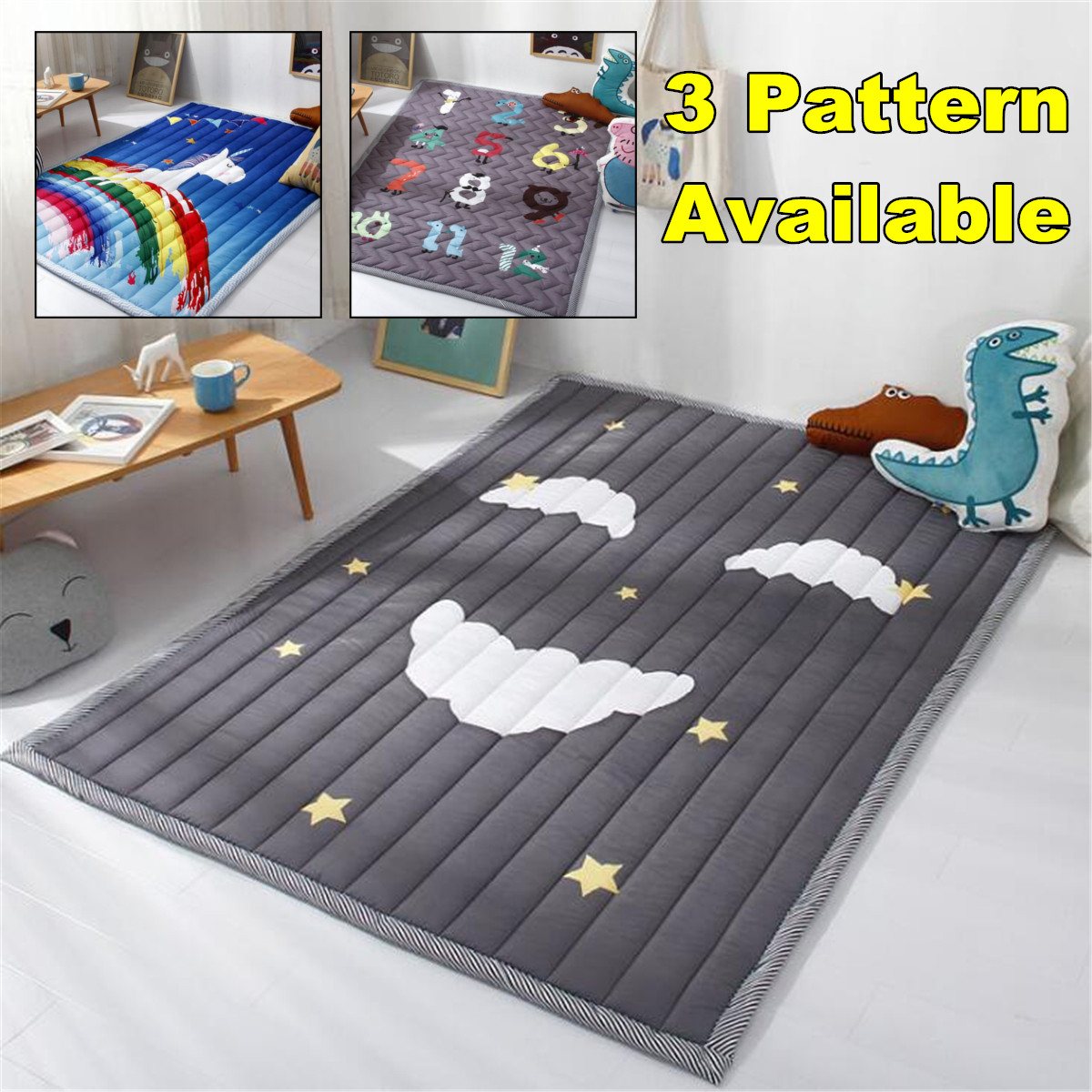 Baby Gear Baby Baby Game Play Children Rug Carpet Blanket Playmat Crawling Cotton Mat Soft Kids