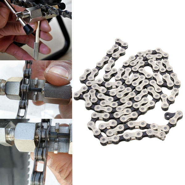 IG51 Compatibility 6-7-8 Speed Steel Chain w// 116 Links For SHIMANO Bike Bicycle