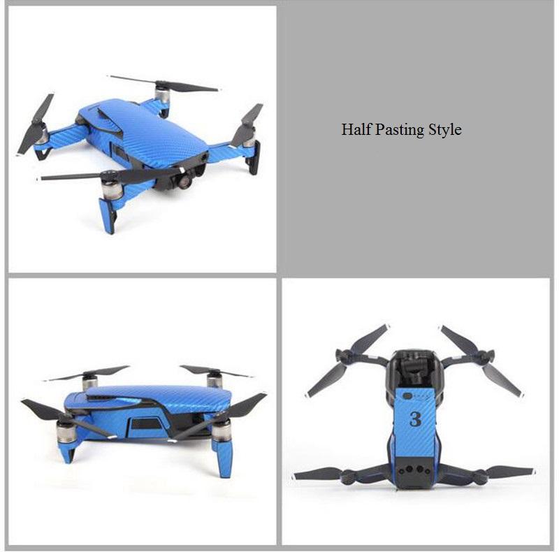 Sunnylife Waterproof Pvc Carbon Fiber Stickers Drone Body Remote Control Full Set For Dji Mavic Air