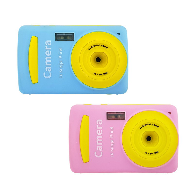 Розовый Blue 16MP 720P Mini Kids Kids 2.4 TFT Экранная карта камера