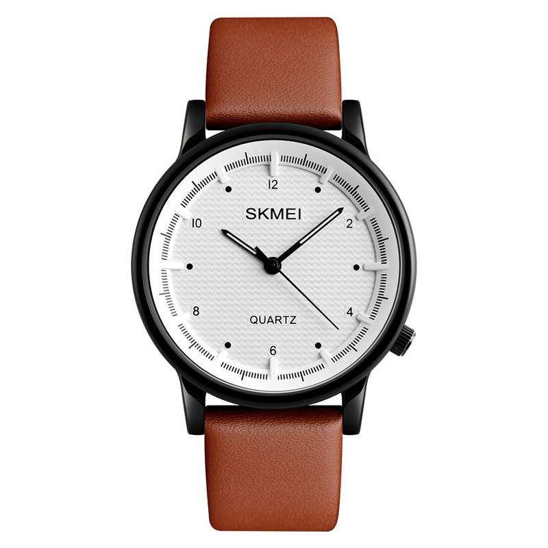 SKMEI 1210 Fashion Watch Simple Style Leather Strap Casual Unisex Quartz Analog Wrist Watch, Men Watches  - buy with discount