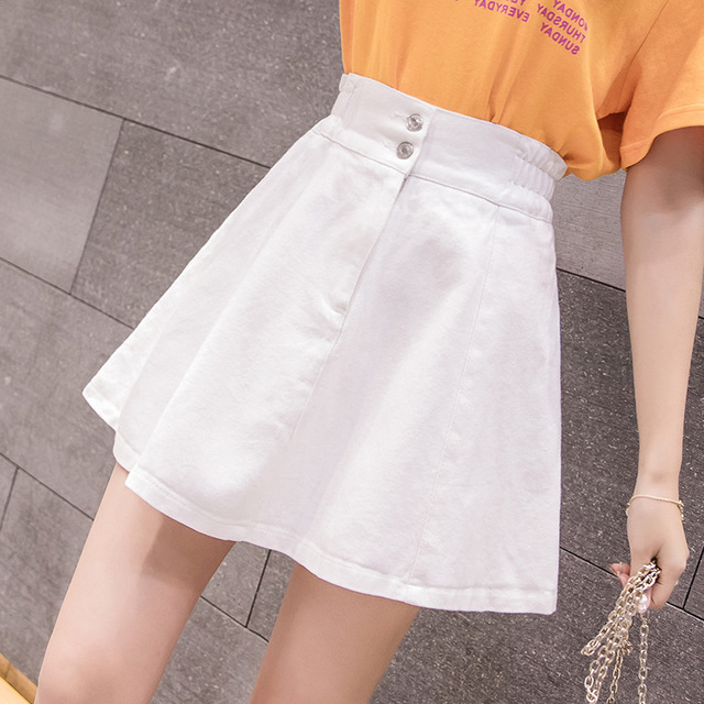 New High Waist A Word Skirt Pleated Skirt Skirt Skirt Skirt Skirt Skirt Denim Skirt