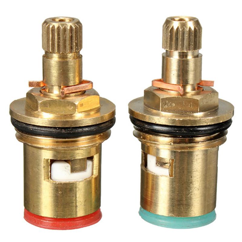 2шт 1/2-дюймовый Квартальный поворотный клапан-картридж латунь Керамический Диск Hot Cold Replace