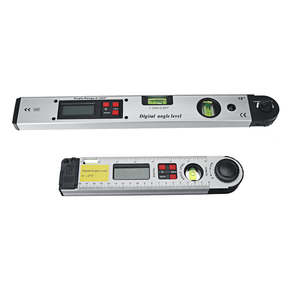 425cc68b 5573 419d 9d5e 25790cea2523 250/400mm Digital Angle Level Meter LCD Display 0-225 Degree for Measuring Roof Angles Fitting Up Windows or Doors Aligning Wood Forms