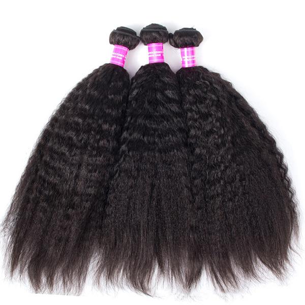 1 Bundle Kinky Straight 100% бразильская человеческая Virgin Волосы