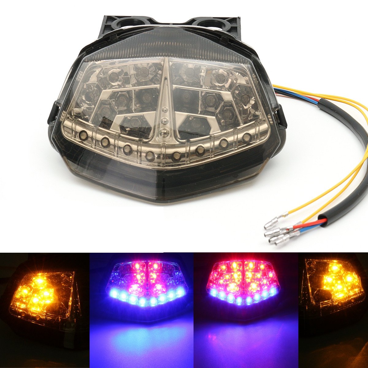 Smoke Brake Tail Light Turn Signals Led Integrated For Kawasaki Ninja 250r Ex250