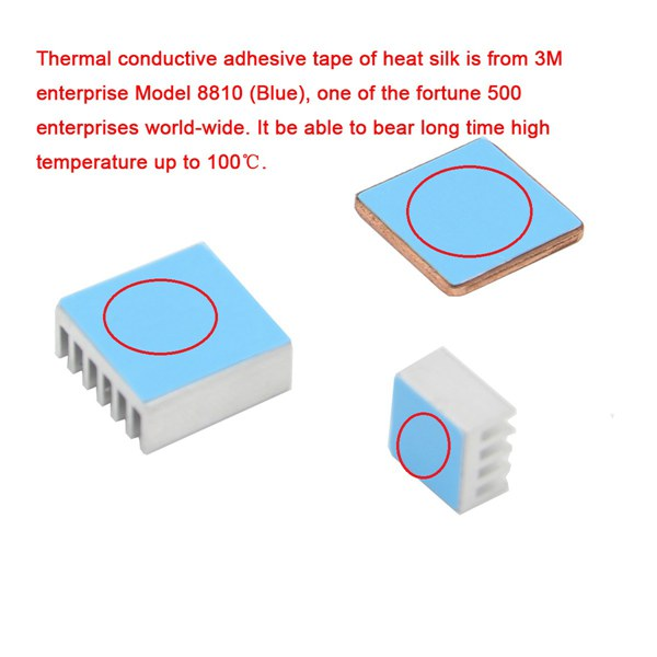 B+ 10SET Aluminum Heat Sink Copper Heatsink For Raspberry Pi 3 Model B Pi 2
