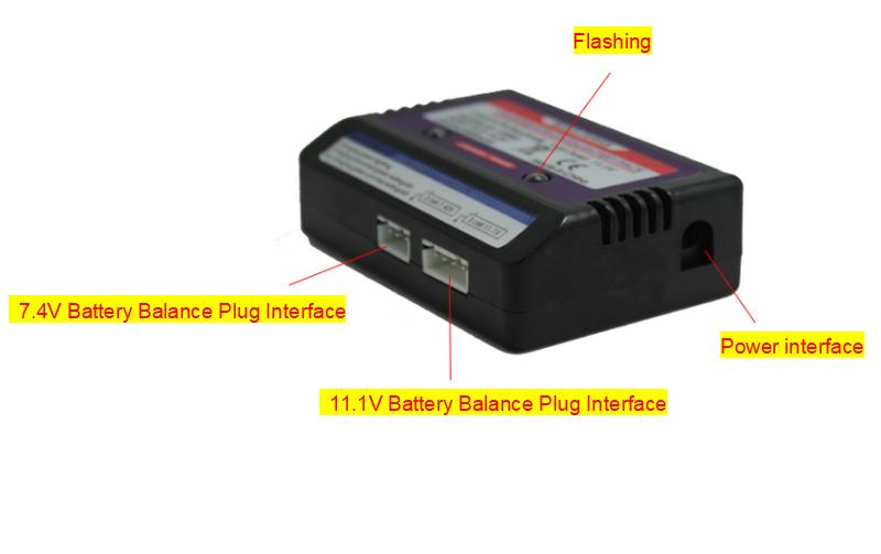 B3 10W AC/DC Balance Charger Adapter for 3S/2S-3S 7.4V 11.1V LiPo Lithium Battery