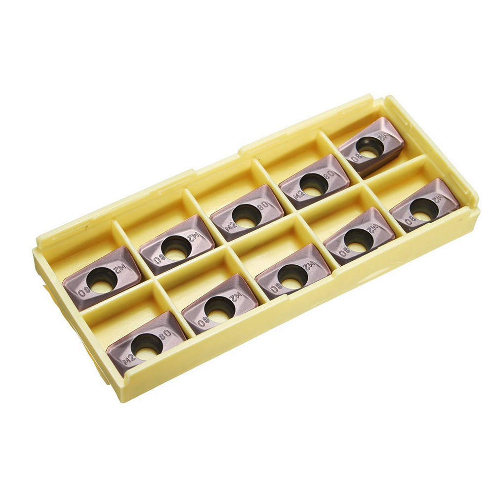 Drillpro 10pcs APMT1604PDER-M2 VP15TF 5R0.8 Carbide Inserts for Mill Cutter CNC Tool