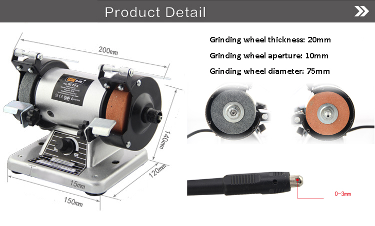 Peachy 150W Mini Metal Polishing Pro Max 3Inch Bench Grinder Polisher Buffing Kit Machine Squirreltailoven Fun Painted Chair Ideas Images Squirreltailovenorg