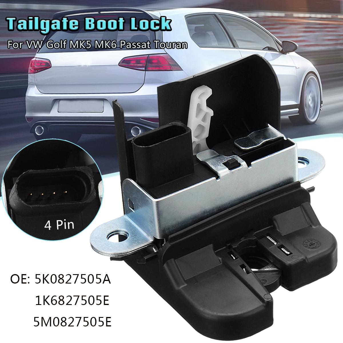 Tailgate Boot Car Door Lock Pin Latch Actuator For VW Golf MK5 MK6 Passat  Touran 5K0827505A