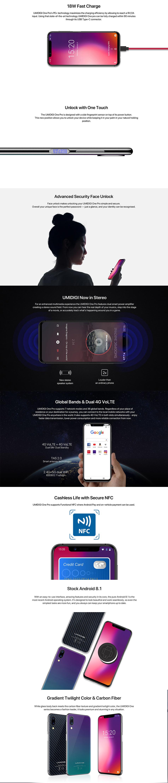 UMIDIGI One 5 9 Inch FullSurface Global LTE Band 4GB RAM 32GB ROM Helio P23  Octa-core 4G Smartphone