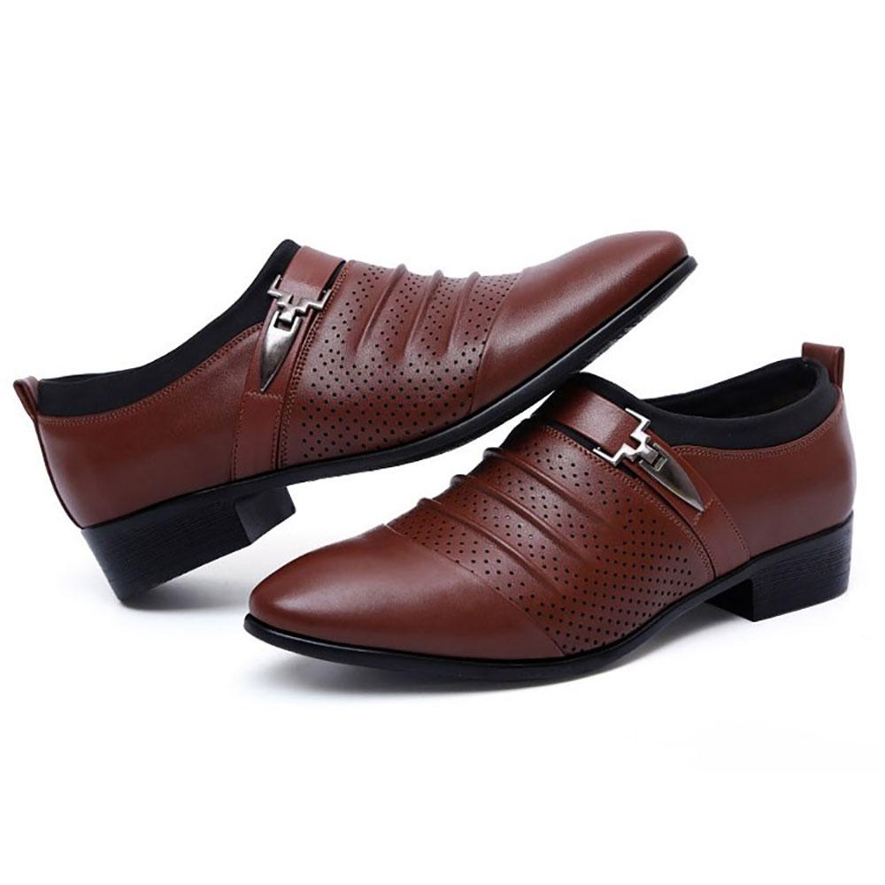 МужчиныBreathableHollowOutsLeatherFormal Business Shoes
