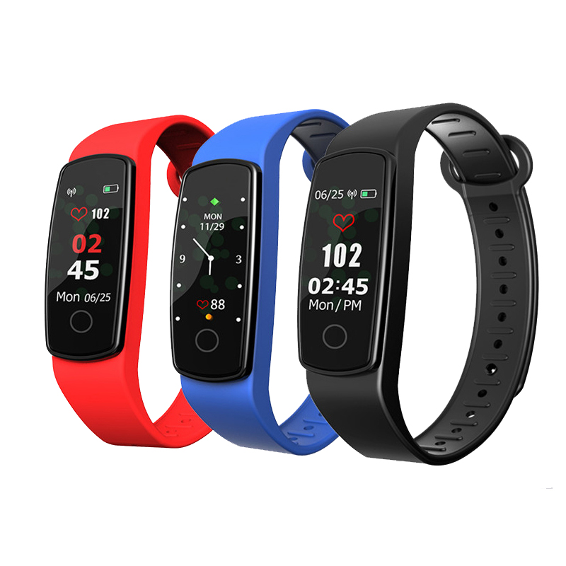 XANES C19 0.96 Color Touch Screen IP67 Waterproof Smart Bracelet Pedometer Heart Rate Blood Pressure Monitor Fitness Smart Watch, Eachine1, Fitness Wellness  - buy with discount
