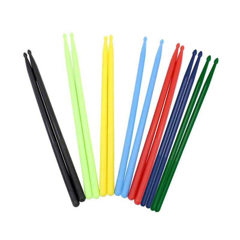 1 пара 5A Цветные барабанные палочки Nylon Барабан Палка Набор для начинающего барабанщика