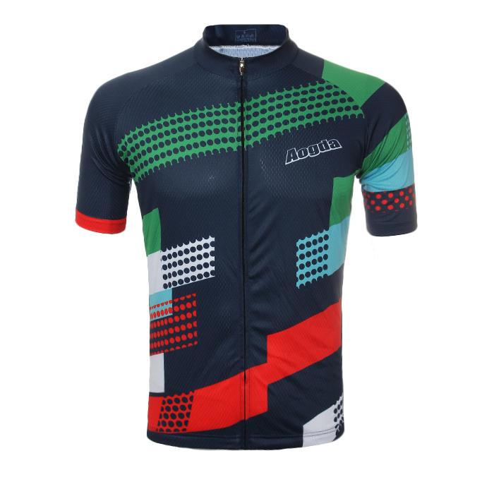 Унисекс Лето Велоспорт с коротким рукавом Джерси Полиэстер Материал Дышащий влагу Quick Dry Рубашки