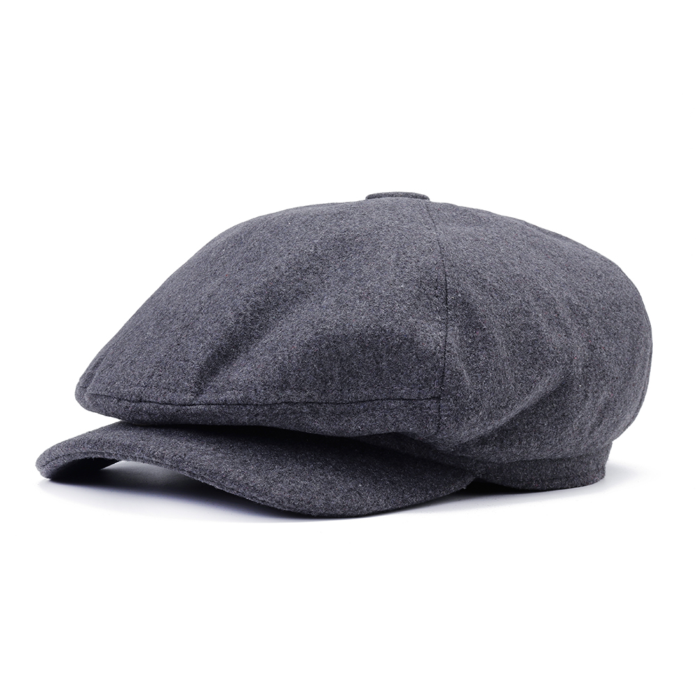 Mens Middle-aged Windproof Thicken Felt Beret Hat