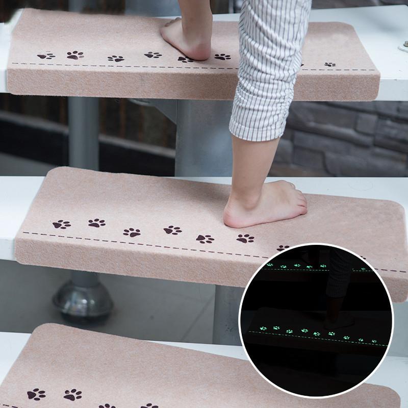 Honana WX-M3 Светящаяся лестничная клетка Step Floor Carpet Легкая чистая дверь Противоскользящие коврики Самоуплотняющийся коврик