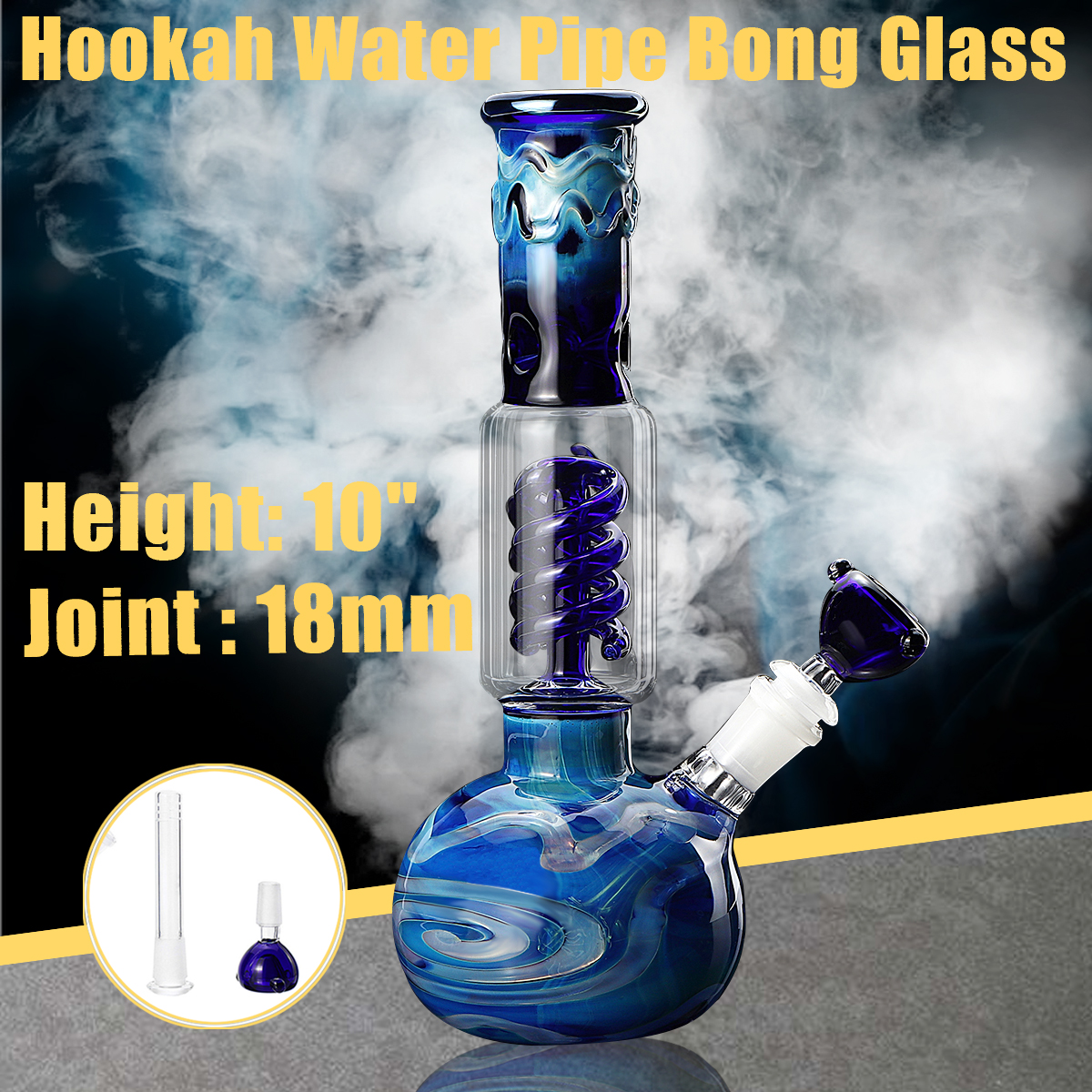 10 7 Inch Glass Bong Bubbler Water Pipe Hookah Beaker Ice Catcher Filter  Bongs Water Oil Rig Pipe