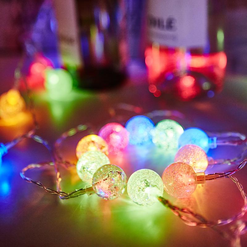 KCASA 2M 20 LED Bubble Ball String Lights LED Fairy Lights для фестиваля Christmas Halloween