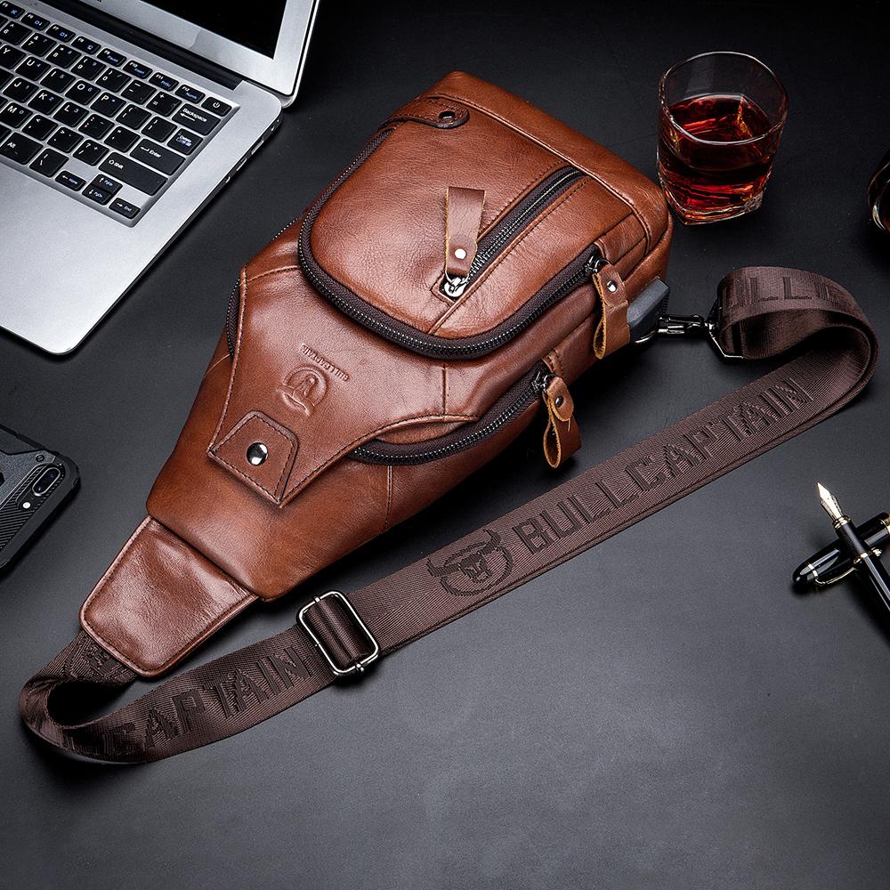 Bullcaptain Genuine Leather Bu...