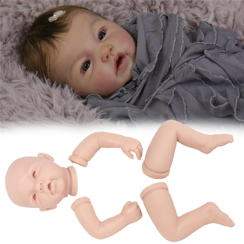 22 Unpainted Reborn Doll Kit Soft Vinyl Full Limb Anatomically Lifelike DIY Toy