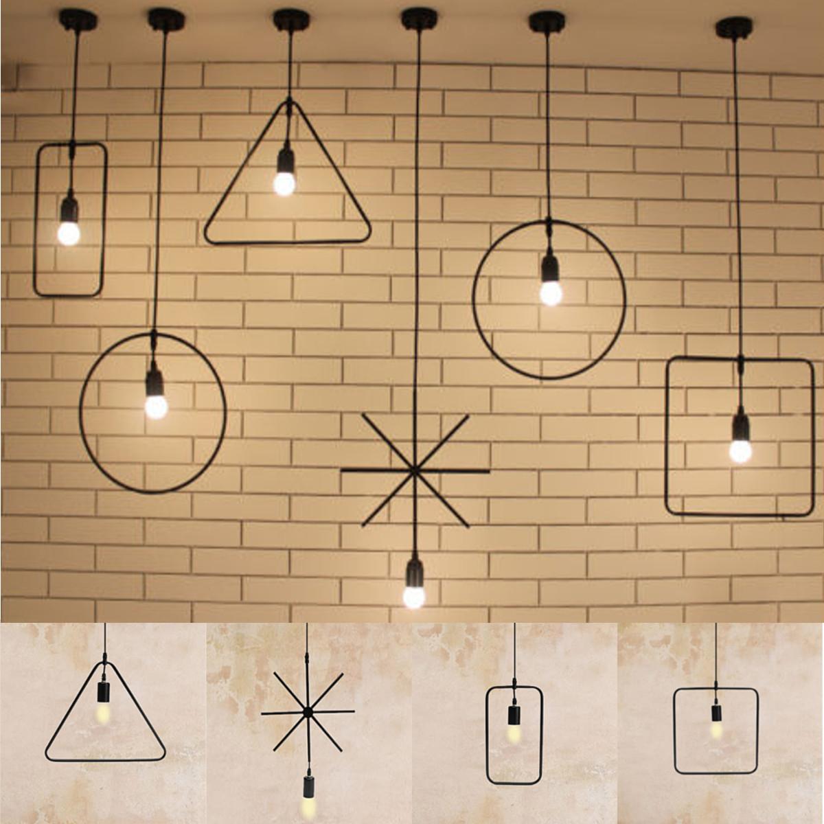 E27 Геометрический висит легкой промышленности потолок подвесной светильник абажур светильник