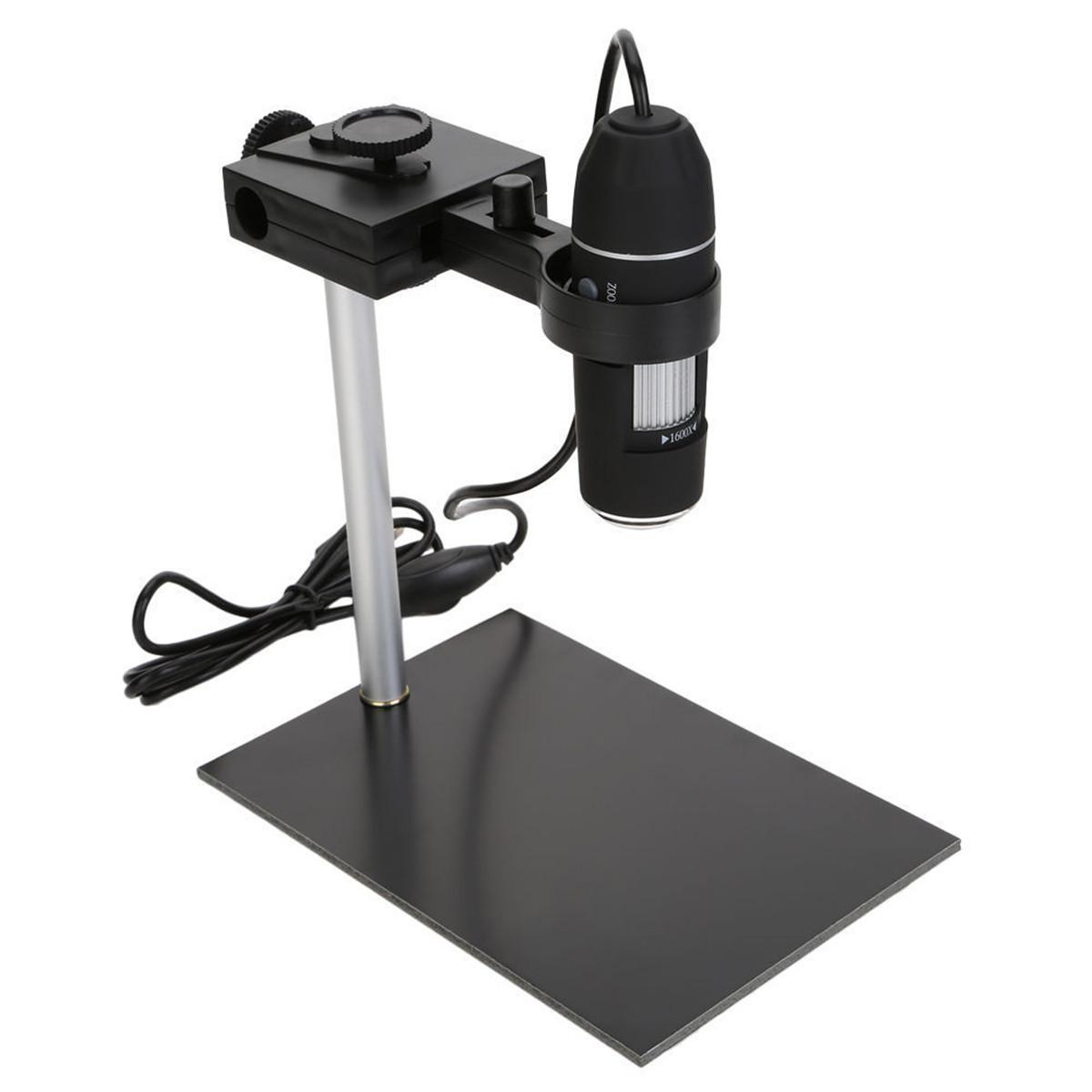 1600X USB цифровой микроскоп 8 LED Лупа с регулируемой подставкой