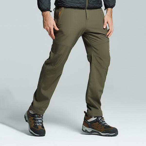 e70feeb51 Mens Winter Thick Fleece Waterproof Outdoors Pants Soft Shell Warm Climbing  Pants