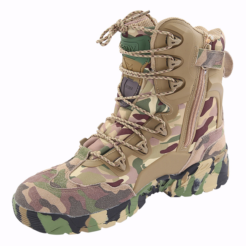 d2fb197d0f7 ESDY Men Tactical Winter Army Boots Desert Shoes Outdoor Hiking Leather  Military Combat Male